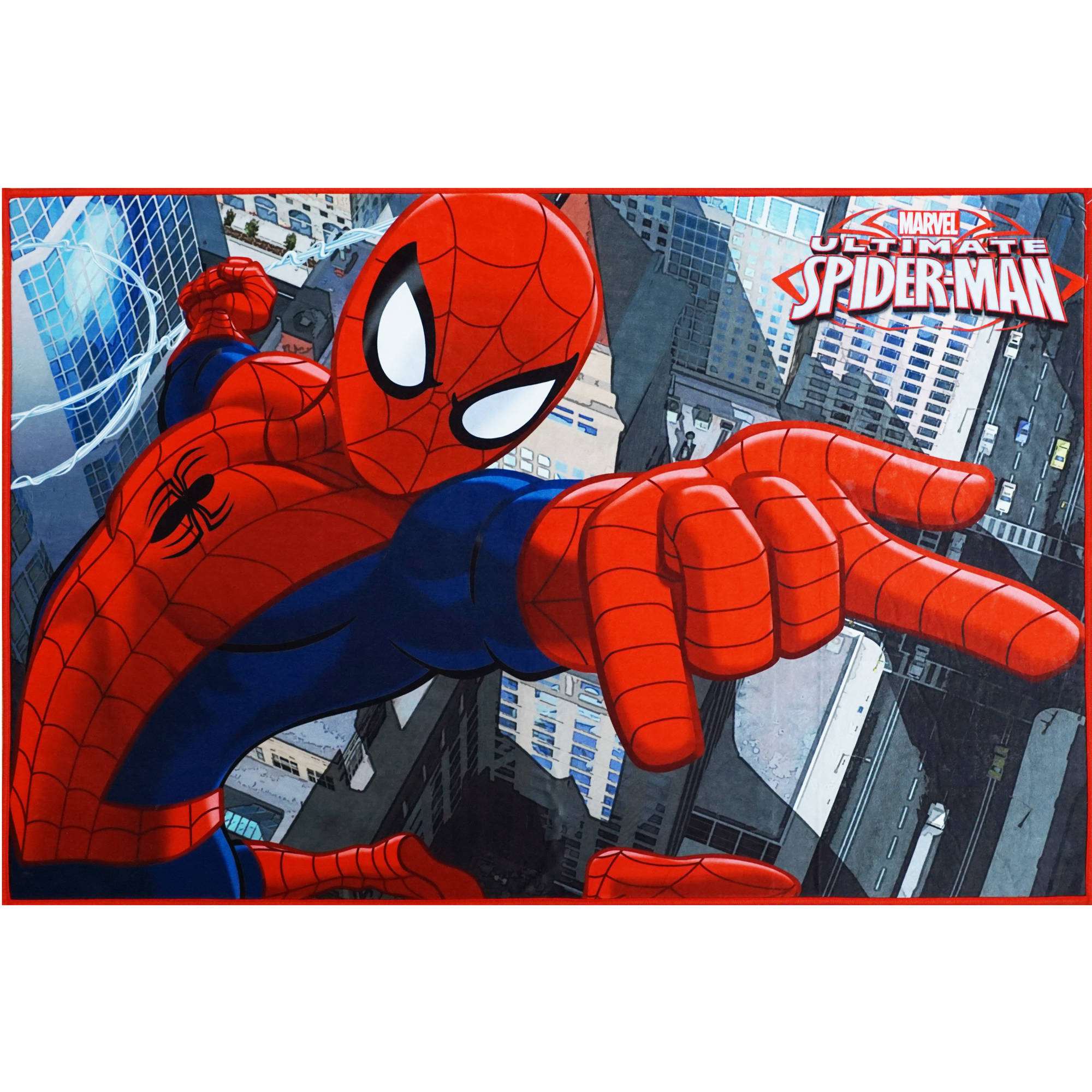 "Marvel Spiderman Heat Transfer Rug, Multi-Color, 3'10"" x 2'6"""