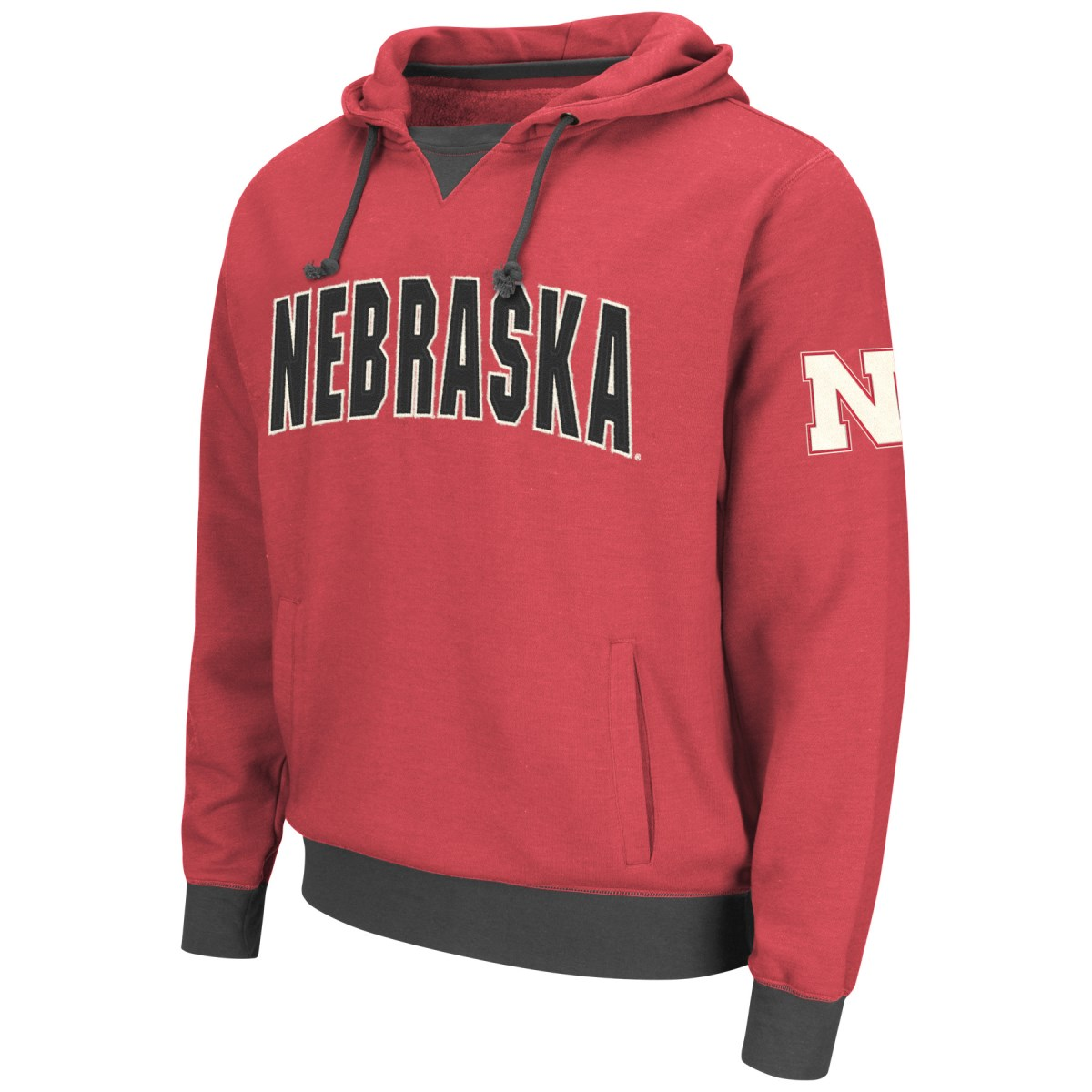 "Nebraska Cornhuskers NCAA ""Flurry"" Pullover Hooded Men's Sweatshirt"