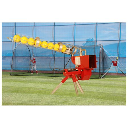 TREND SPORTS HEATER SOFTBALL PITCHING MACHINE AND XTENDER 24' CAGE ()
