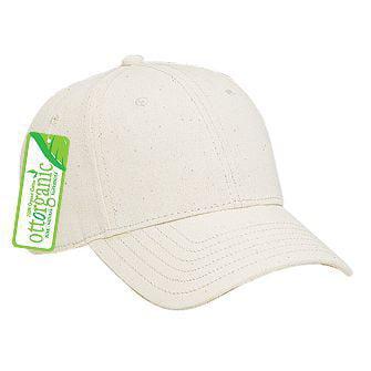 Wholesale 12 x OTTO Organic Cotton Twill Low Profile Baseball Cap - Natural - (12 Pcs)