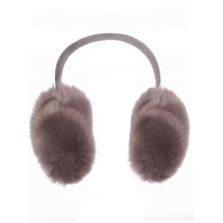 Emmalise Oversized Winter Earmuffs for Cold Weather Faux Fur Soft Ear Warmer, Fuzzy Gray