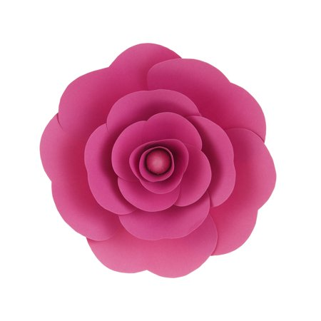 Mega Crafts - 12'' Handmade Paper Flower in Fuchsia | For Home Décor, Wedding Bouquets & Receptions, Event Flower Planning, Table Centerpieces, Backdrop Wall Decoration, Garlands & Parties (Paper Flower Crafts)
