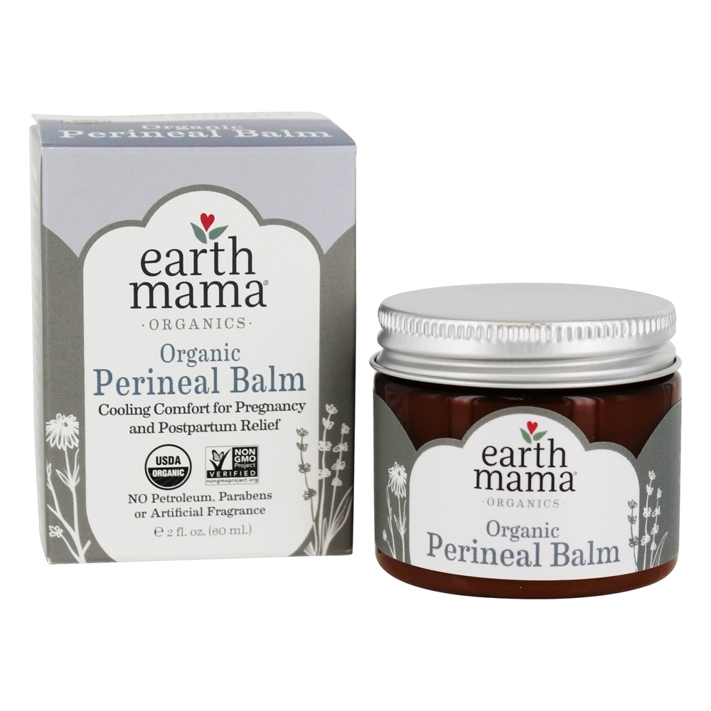 Earth Mama - Organic Perineal Cooling Comfort Balm - 2 oz. Formerly Mama Bottom Balm