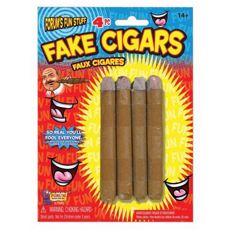Cigar Decorations For Parties (Halloween Fake Cigars 4 Pack)