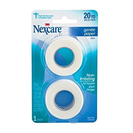 2 Roll Paper Tape - Nexcare First Aid 3M Gentle Paper Tape 2 roll