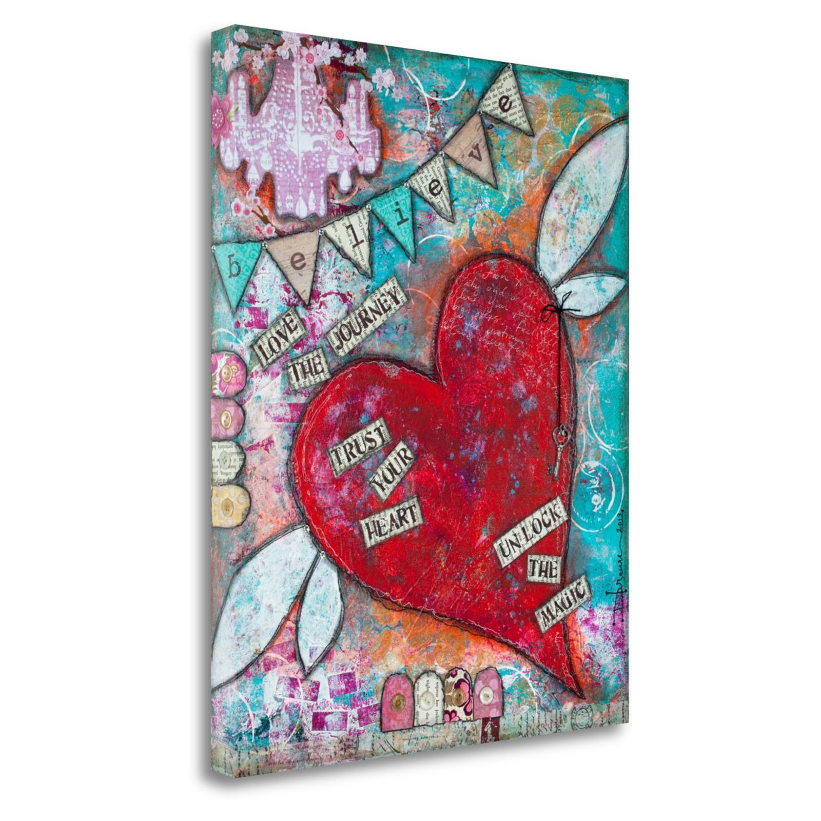 Tangletown Fine Art Believe Canvas Ready To Hang Giclee Print Wall Art By Denise Braun