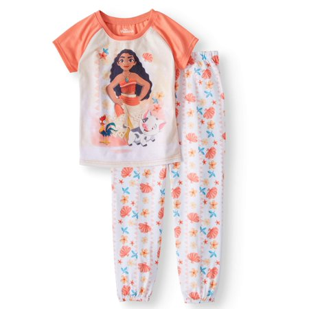 Girls' Moana 2-Piece Pajama Sleep Set](Princess Jasmine Pajamas)
