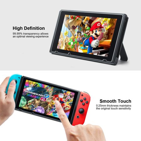 Mangotek Switch Screen Protector 0.25mm/9H Premium Tempered Glass Screen Protector for Nintendo Switch your screen (2-Pack) - image 1 de 7