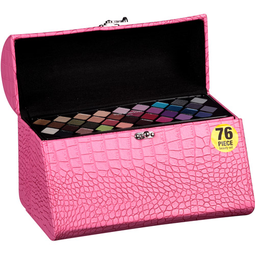 The Color Workshop Triple Play Vanity Makeup Case, Pink, 79 pc