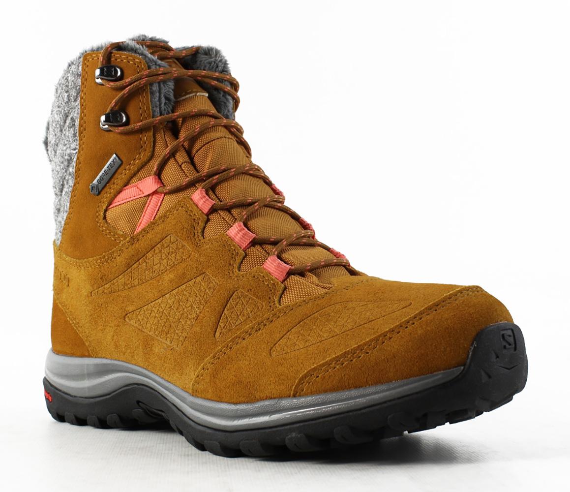 New Salomon Womens L39854900 Brown Snow Boots Size 7.5