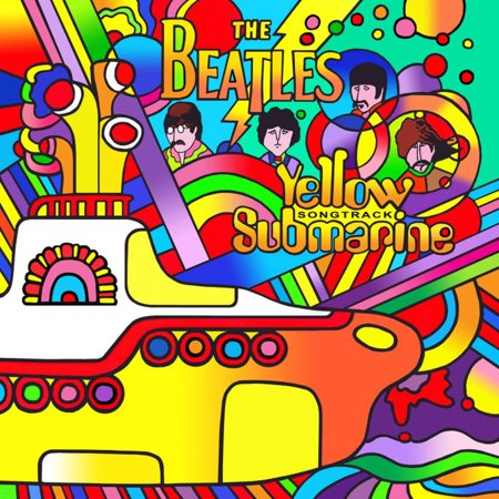 Yellow Submarine Beatles Psychedelic Rock Music Movie Print Wall Art By Howie -