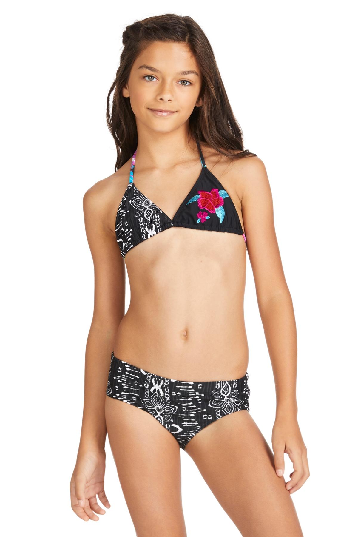 Raisins Girls Half Moon Coconut Beach Triangle Set 7