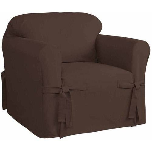 Serta Relaxed Fit Cotton Duck Furniture Slipcover, Chair 1-Piece Box Cushion by Generic