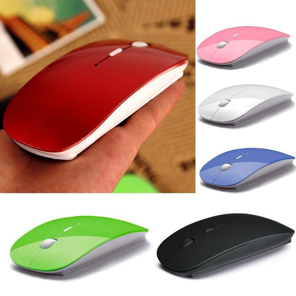 Office Home Mouse Wireless Computer Mouse 2.4G Computer Mouse Optical Mouse for PC Mac Laptop Color : Purple Desktop