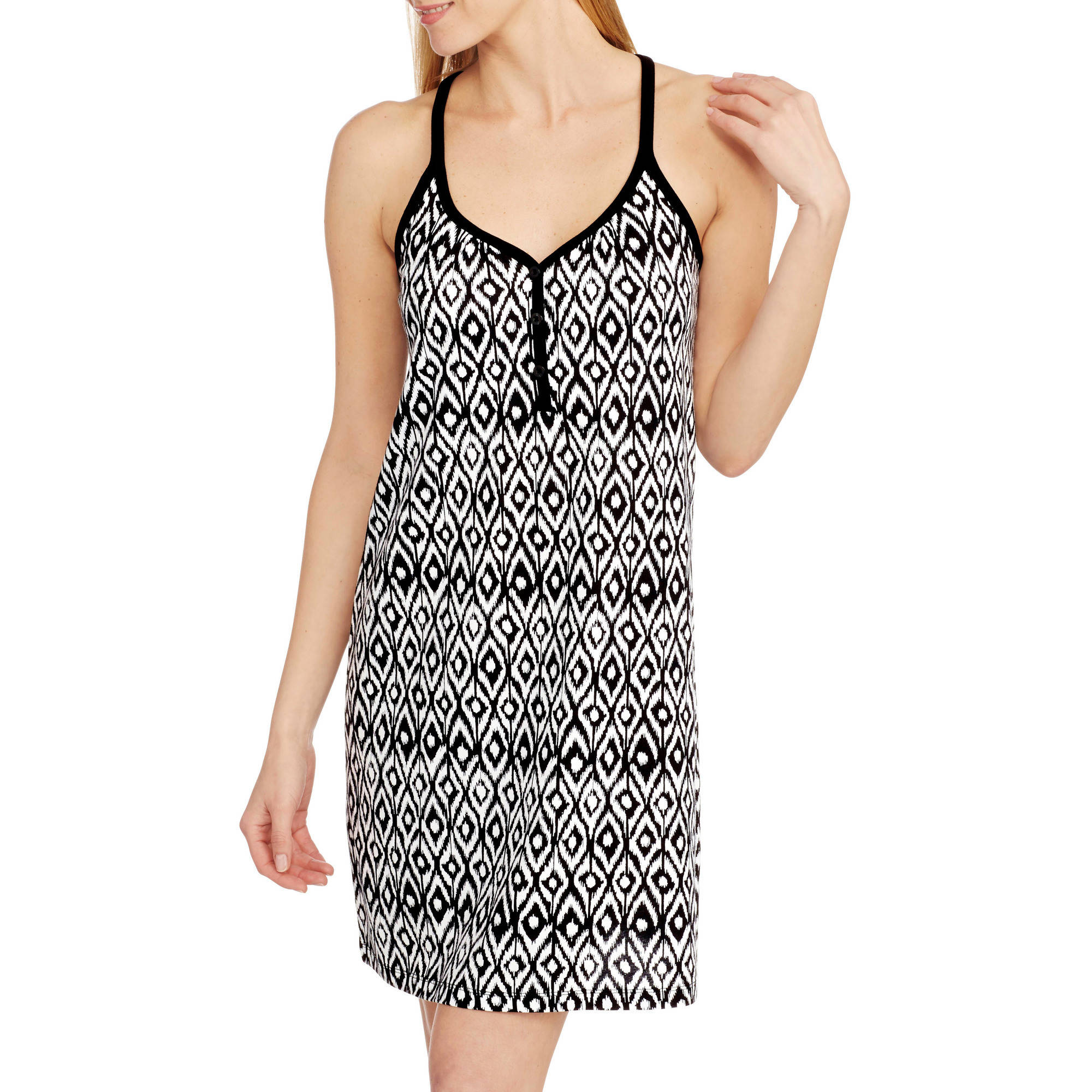 Secret Treasures Women's Tank Henley Chemise (S-3XL)