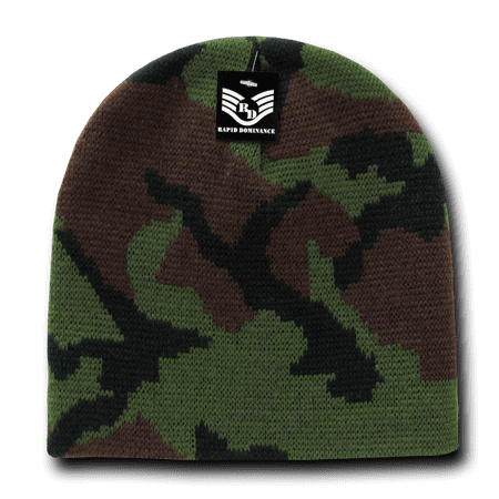 16587cbf4d65b Rapid Dominance Woodland - Military Camouflage Camo Beanie Beanies Beany  For Men Women GI Jacquard Knit Watch Cap Caps Winter - Walmart.com