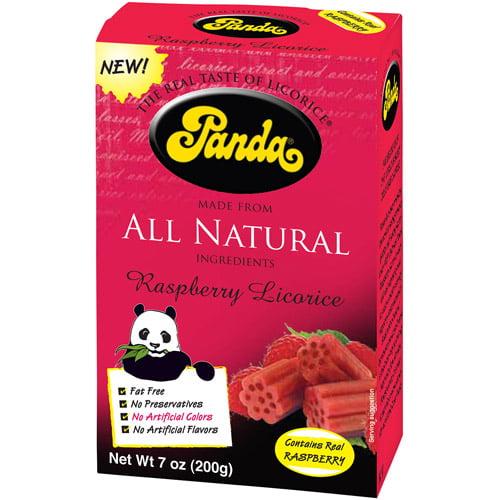 Panda Raspberry Licorice, 7 oz (Pack of 12)
