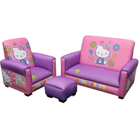 O Kitty Toddler Sofa Chair And Ottoman Set Novelty Wood