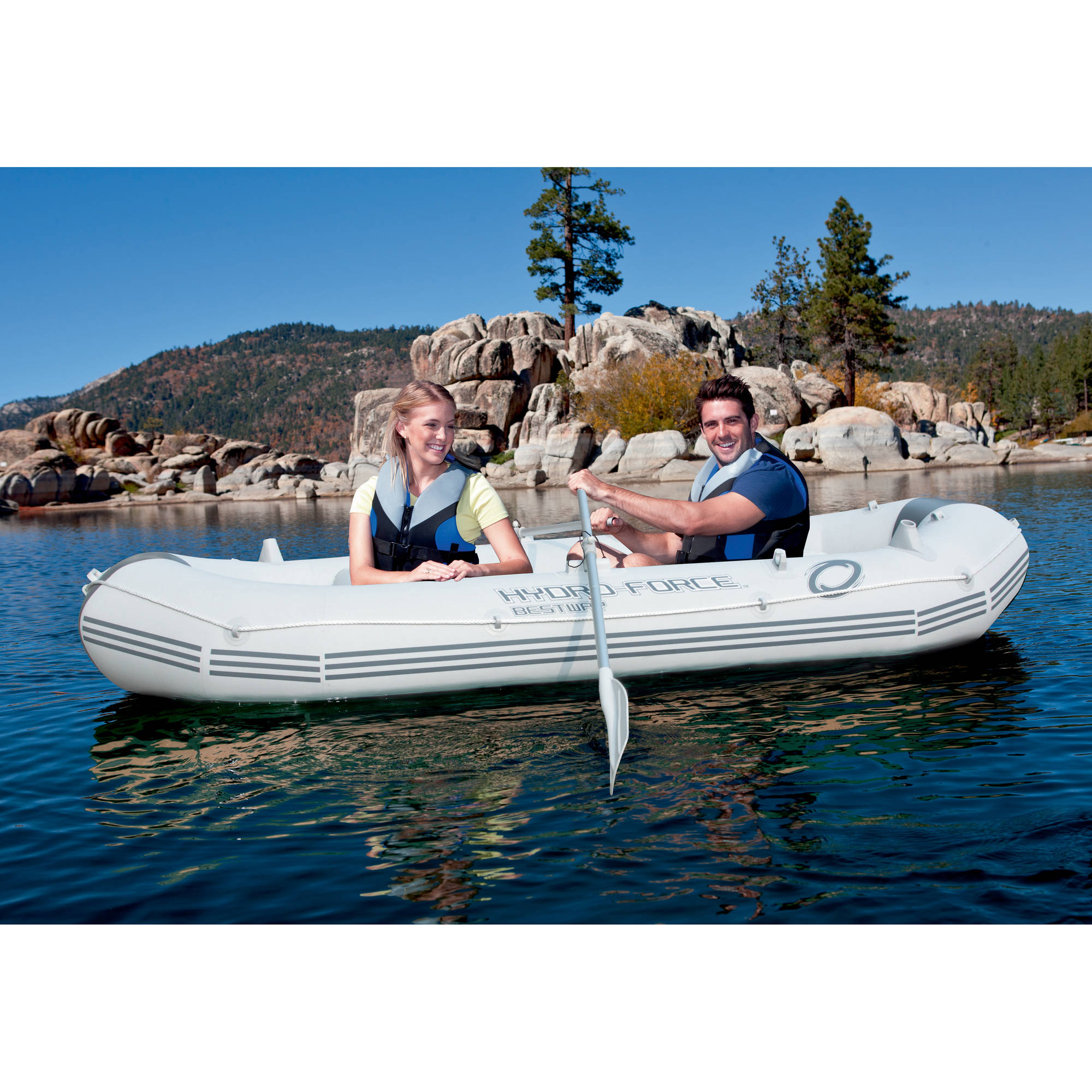Ozark Trail  Marine Pro Inflatable Boat with Oars, Pump and Storage Bag