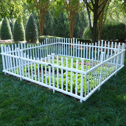Zippity Outdoor Products 30 in. x 94.1 in. Pet or Garden Vinyl Enclosure Picket Fence with... by