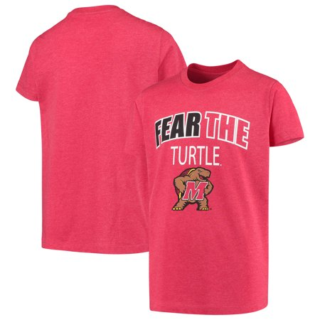 Maryland Terrapins Colosseum Youth Bold Logo Chant T-Shirt - Heathered Red Bold Logo T-shirt