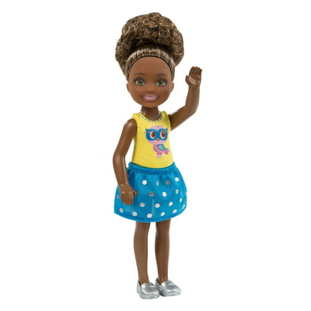 Barbie Club Chelsea Doll with Owl Print Top & Polka Dot Skirt Chelsea Training Top