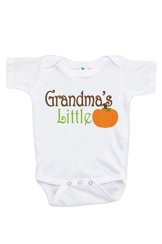 Custom Party Shop Baby's Grandma's Little Pumpkin Fall Onepiece - 12-18 Month Onepiece