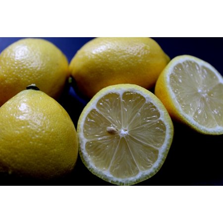 Laminated Poster Fruit Beverage Drink Lemon Fresh Lemonade Glass Poster Print 24 X 36
