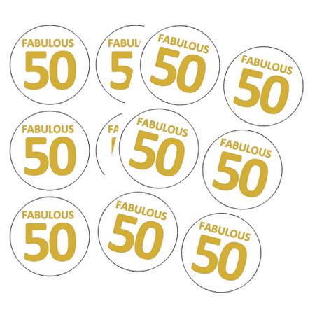 120ct 50th Birthday Stickers (50th Birthday Stickers)