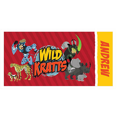 Personalized Wild Kratts Creature Power Beach Towel