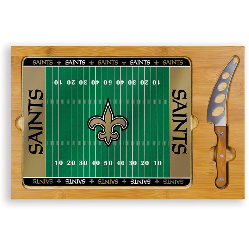 Picnic Time NFL Icon Glass Top Serving Tray and Knife Set
