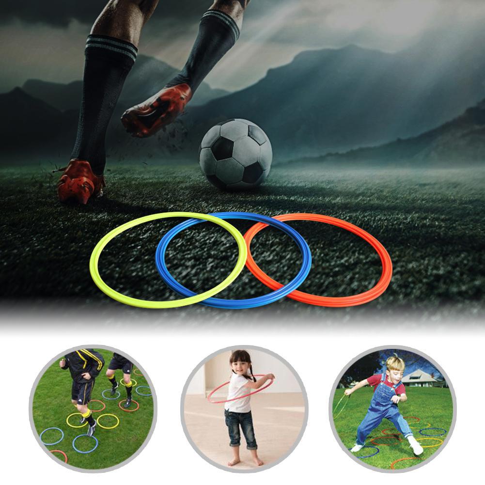 5pcs Football Soccer Speed Agility Rings Sport Training Equipment 40cm ✼