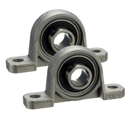 2X 12mm Inner Dia Bore Vertical Zinc alloy Self-adjust Pillow Flange Block Ball - Ball Flange