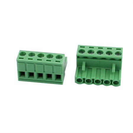 5Pcs 300V KF2EDGK 5 08mm Pitch 5-Pin PCB Screw Terminal Block