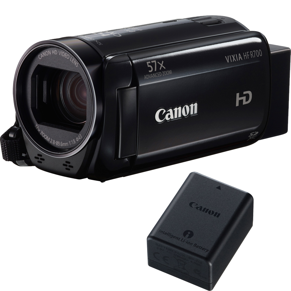 Canon VIXIA HF R700 Full HD Black Camcorder with 57x Advanced Zoom with Canon BP-718 Battery Pack