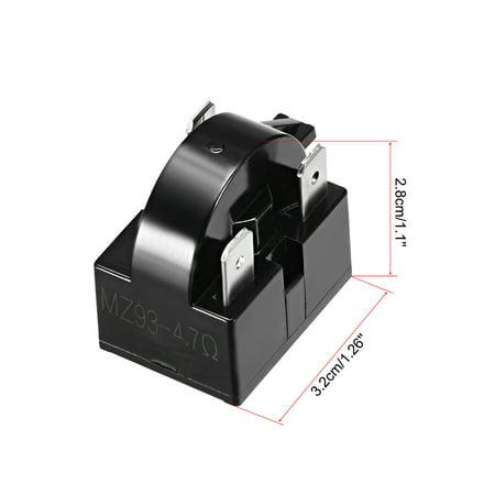 4.7 Ohm 3 Pin Refrigerator PTC Starter Relay Black - image 3 of 4