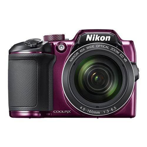 Nikon COOLPIX B500 Digital Camera (Purple) International Model No Warranty