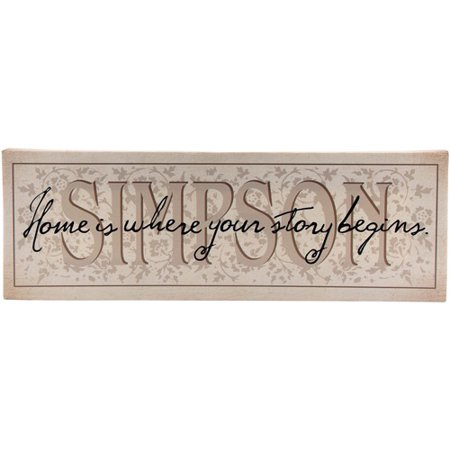 Personalized   Home Is Where Your Story Begins   Canvas Wall Decor  9   X 27