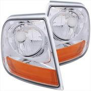 ANZO 521026 Corner Lights Chrome Euro Amber