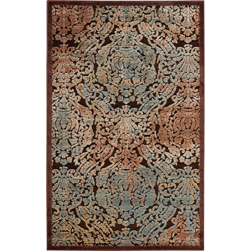 Nourison Graphic Illusions Polyacrylic Parch Damask Rug
