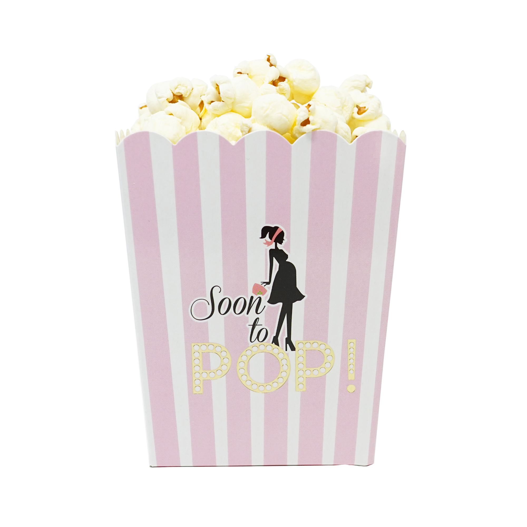 Soon To Pop Popcorn Candy & Favor Boxes, Baby Boy, Small Size ...
