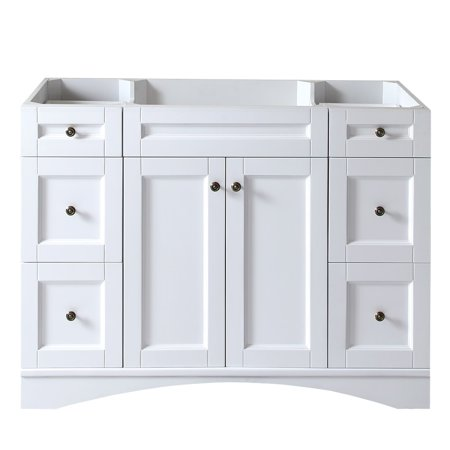 Virtu usa elise 48 inch white single sink cabinet only bathroom vanity for 66 inch bathroom vanity cabinets