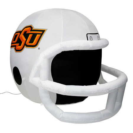 NCAA Oklahoma State Cowboys Team Inflatable Lawn Helmet, White, One Size
