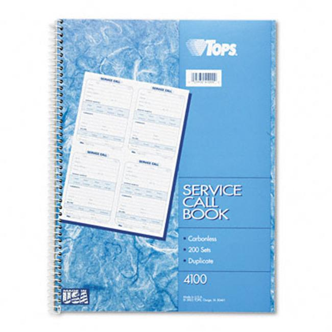 Tops 4100 Service Call Forms  4 x 5-1/2  Carbonless Dupli...