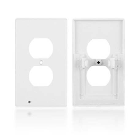 iTD Gear Wall Outlet Coverplate w/ LED Night Lights (Auto on/off)