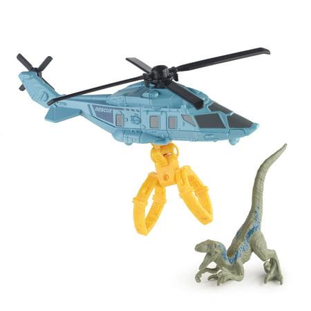 Matchbox Jurassic World Dino Transporters Raptor Copter - Dinosaur Raptor