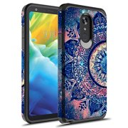 LG Stylo 5 Case, KAESAR Slim Hybrid Dual Layer Shockproof Hard Cover Graphic Fashion Cute Colorful Silicone Skin Cover Armor Case for LG Stylo 5 (Mandala)
