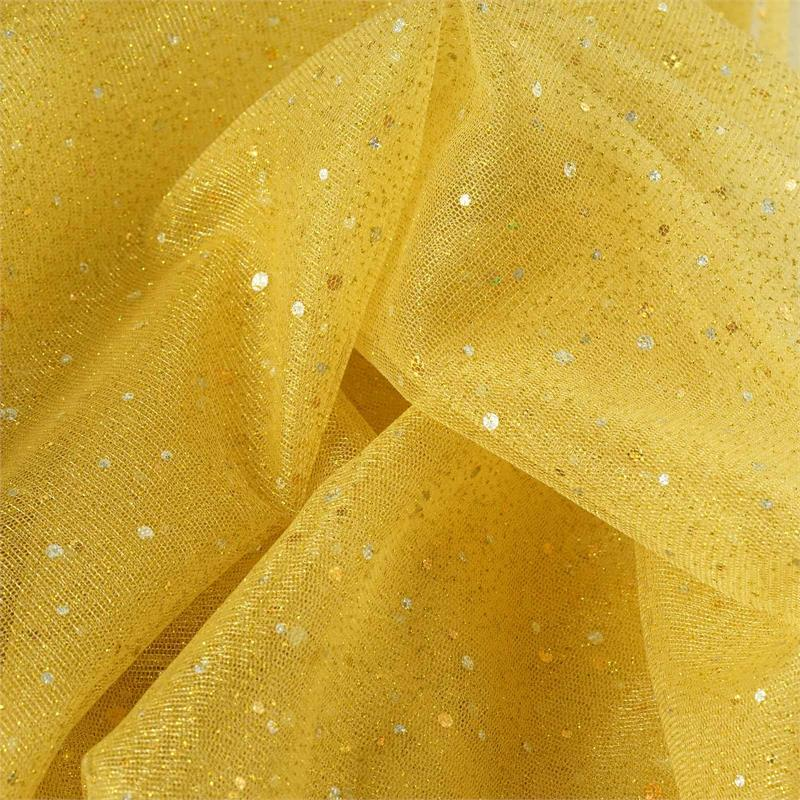BalsaCircle 54 inches x 15 yards Sheer Tulle Fabric Bolt with Sequins - Crafts Sewing Wedding Party Draping DIY Decorations