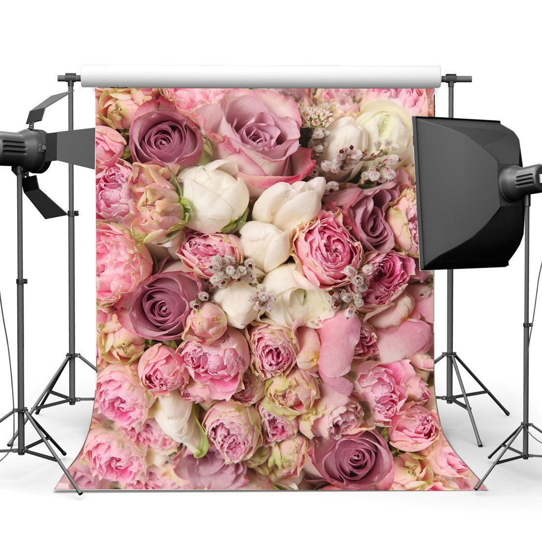 Valentine Day Flowers Digital Photography Background Cloth Studio Backdrop *DC