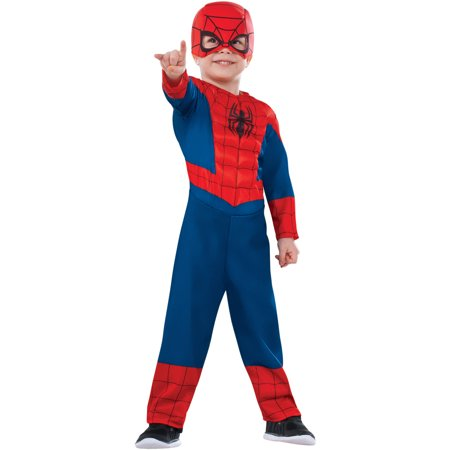 Rubies Costume Co Spiderman Muscle Chest Toddler Halloween Costume - Toddler Muscle Spiderman Costume